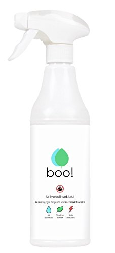 boo! Insektenspray | Insektenschutz als Spray Gegen Mücken, Milben, Bettwanzen Etc | Insektizid | Pflanzlicher Wirkstoff | 500 ml