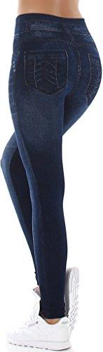 SL1 - Legging de sport - Skinny - Femme (4) Dunkelblau