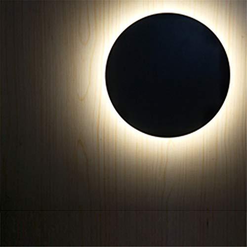 Eclipse-bad (FTZHL LED Aluminium Eclipse, weißes Licht groß wasserdicht 12W Wandlampe/Wandlicht Leuchter/Wandbeleuchtung Wandleuchte Moderner Stil Beleuchtung Schlafzimmer,Wohnzimmer,Bad,Flur)