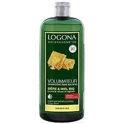 Logona - Champú de miel y cerveza para potenciar el volumen, 500 ml