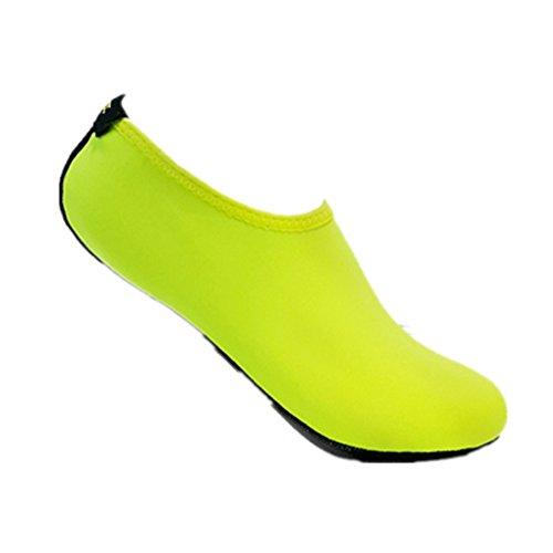 Malloom Unisex Strandschuhe Aquaschuhe Breathable Schlüpfen Schnell Trocknend Schwimmschuhe Surfschuhe für Damen Herren Kinder Baby Grün