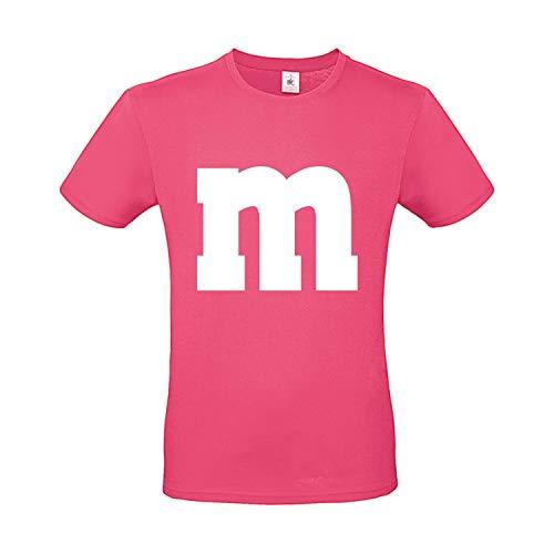 Shirt-Panda Herren T-Shirt M&M Karneval Gruppen Kostüm Fasching Verkleidung Party Darts Unisex Kinder Pink ()