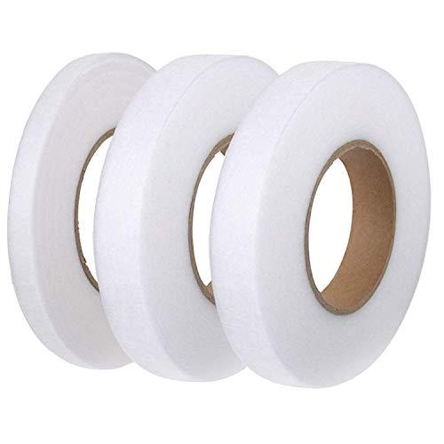 ANSUG Gewebefixierband, 70 Yards Saumklebeband Aufbügelbares Fixierband 3 Stück (10 mm, 15 mm und 20 mm) für Bekleidung -