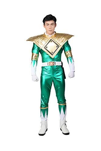 Mersky Cosplay Kostüm Film Uniform Party, Halloween und Karneval Zubehör, grün PU Leather.