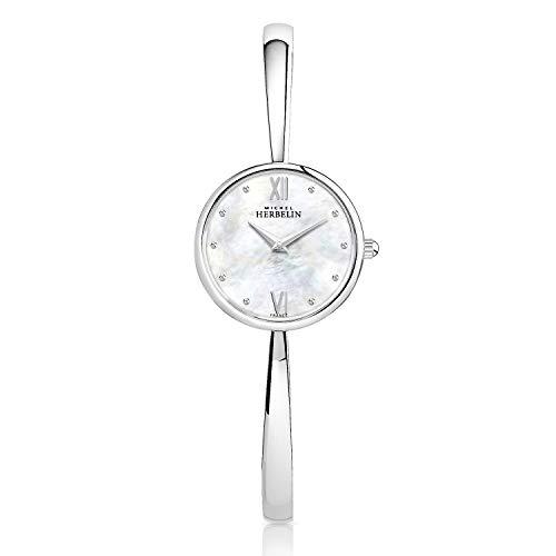 Michel Herbelin 17408/B19 Women's Mother of Pearl Watch
