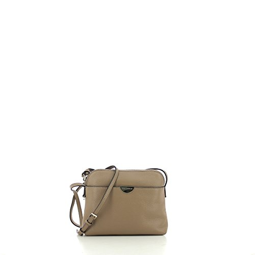 Borsa a tracolla in pelle TAUPE