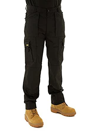 Mens Multi Pocket Cargo Combat Work Trousers Size 28 to 52 With Knee Pad Pockets By SITE KING (28 Waist / 33