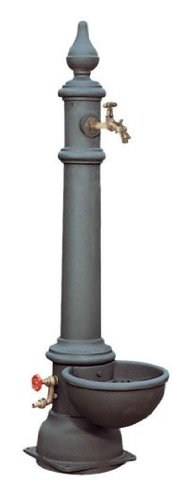 Fontana a colonna in ghisa arredo giardino monachella smart trevi garden