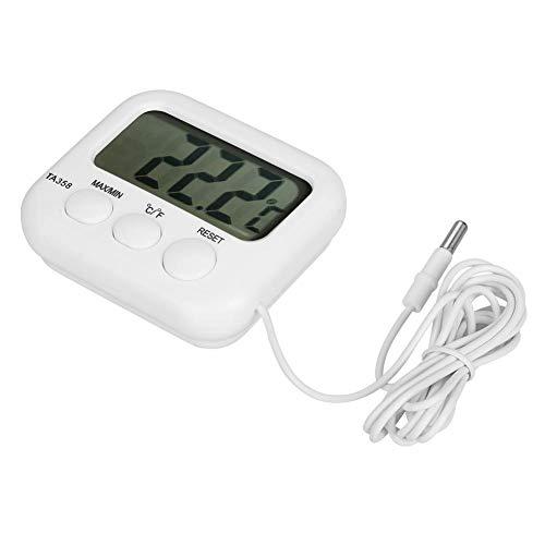 Nitrip TermóMetro para Refrigerador, Cocina Digital Resistente Al Agua para Carne De Sonda De Comida...