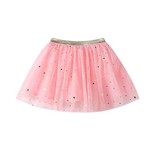Livoral Mädchen Mode Tutu Mode Baby Kinder Prinzessin Star Pailletten Party Dance Kostüme(Rosa,130)