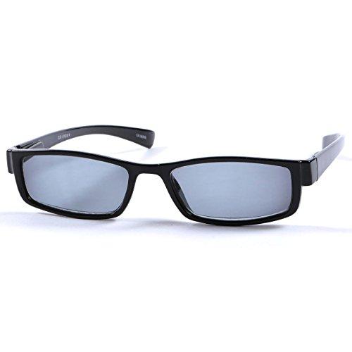 +2.50 Sonnen Lesebrille Schwarz Lesebrille Sonnenbrille 100% UV-Schutz Getönte Gläser, Männer Frauen Retro Vintage Zeitlos + Fall