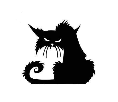 Lazeny Katzen Wandtattoo Wandaufkleber Halloween Wandsticker Abnehmbare Aufkleber DIY Dekor Decal Geschäft Fenster Wohnzimmer Aufkleber Selbstklebend Möbel Küche Kühlschrank Toilette Wanddeko-Böse Katze