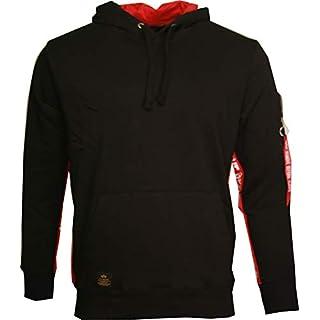 Alpha Industries Herren Sweatshirt RBF Inlay Hoody (M, Black)