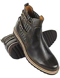 ZERIMAR Botas con alzas interiores de 7 cm Fabricados en piel de alta calidad Estilo casual 100% piel