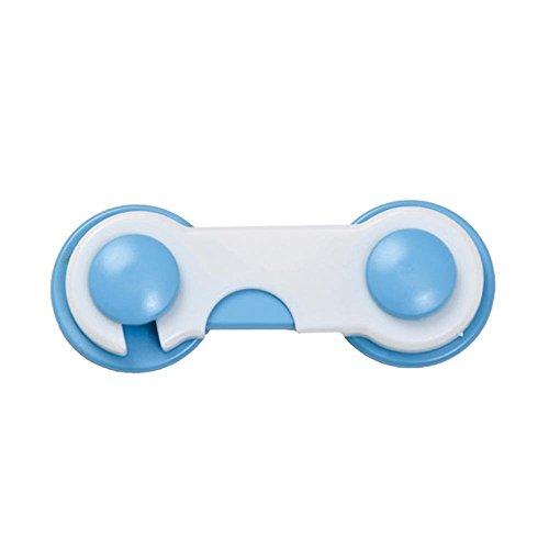 Preisvergleich Produktbild Minkoll Baby Kids Box Schublade, 10 Stücke Schrank Schrank Schranktür Kühlschrank Sicherheitsschloss (blau)