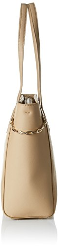 Tommy Hilfiger TH Chain Medium, Sac Femmes, 12x26x32 cm Beige (Sand)