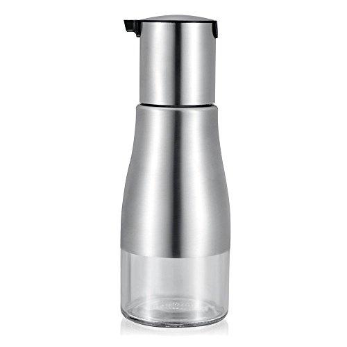 YoHom 11 oz acero inoxidable y vidrio Oliver tanque de aceite de la botella para el Vinagre / dispensador de la salsa de soja