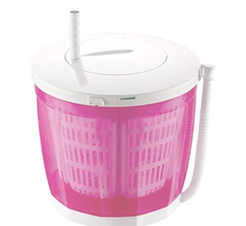 WEIGZ Lavadora de Escritorio/Secadora portátil Manual de la Mano de la Ropa de la Lavadora no-eléctrica y secador rotatorio,Pink
