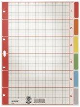 Leitz Kartonregister Blanko/4350-00-85 A4 grau mit farbigen Taben 6-teilig