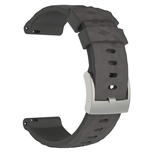 getherad Premium Ersatzarmband Aus Silikon, Uhrenarmband Für Suunto Spartan Wrist HR Baro Bernsteinfarbene Uhr, Komfortables Und Langlebiges Uhrenarmband, Perfekt Für Arbeit Und Reisen