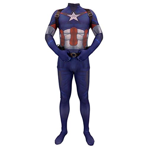 HYYSH Cosplay Hero Superman Kleidung American Captain Adult Muscle Clothing Männlich (Size : L)