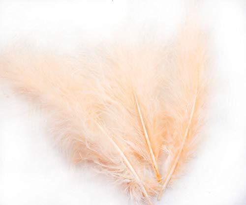 14pcs Peach Orange Gefärbten Flauschigen Daunen Federn, Marabu-Türkei DIY Hut Hochzeit Schmuck-Kostüm-Dreamcatcher-7-23cm
