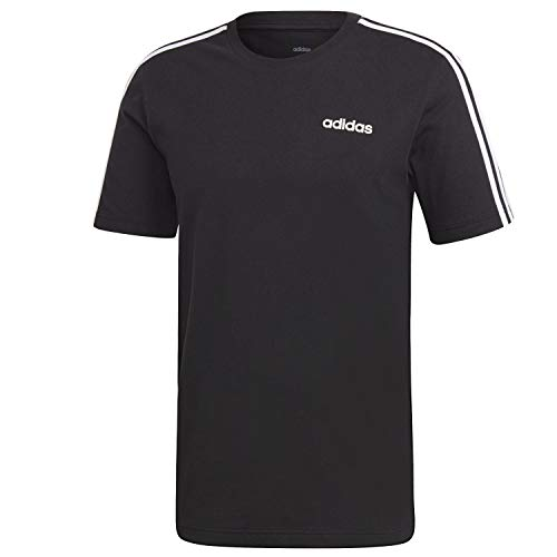 Adidas essentials 3-stripes, t-shirt uomo, black/white, xxl