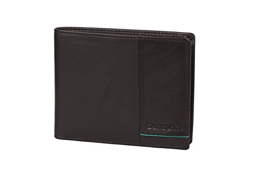 SAMSONITE Outline 2 SLG - Billfold for 4 Creditcards, 2 Compartments Kreditkartenhülle, 0 Liter, Ebony Brown/Turquoise