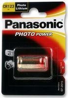 Dynamische Leistung PANASONIC - CR123A - Foto LITHIUM Batterie, Akku, LITHIUM CR123A 3 V - 1 Stück Foto