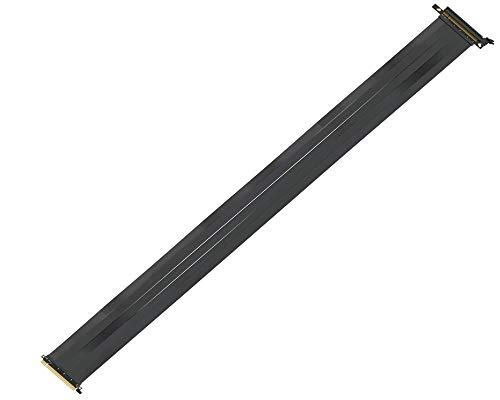 LINKUP Premium PCI-E 3.0 x16 Riser Kabel geschirmt [Schwarz] High Speed Twinaxial PCI Express GPU-Kabel Verlängerung Premium Straight -100cm Premium Straight 10~125cm