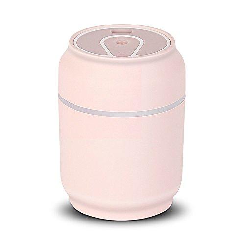 NSHUN Kreative Kanister Luftbefeuchter Mini Tragbare Stumm Schlafzimmer Desktop Kleine Auto USB Luftbefeuchter Dreibettzimmer (Farbe : Rosa) -