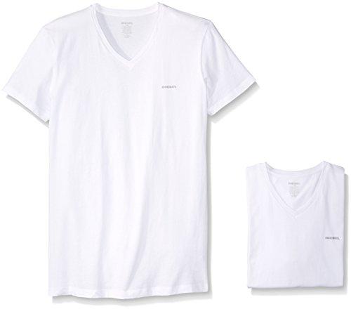 Diesel Herren Umtee-Jake-vthreepac T-Shirt, Weiß (Bright White 100-0Aalw), Large (erPack 3) - Diesel Jake