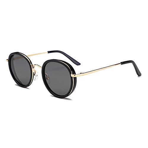 LJ UV400 Sonnenbrille Damen Trend Five In One Grau Schwarz Brille Negative Ion HD Polarized Light Persönlichkeits-Mode