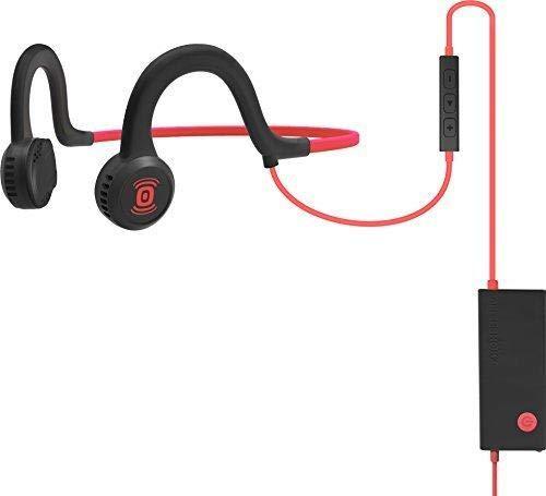 AFTERSHOKZ Sportz Titanium crochet auricullaire (Avec fil, crochet auricullaire, Bandeau, Binaural, Intra-aural, 20 - 20000 Hz) Noir et Rouge