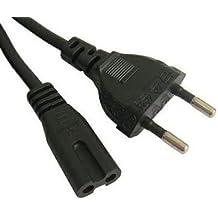 Cable de alimentacion a red tipo 8 cable corriente 1,2m (radio cd video y otros) .