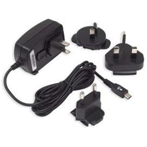 BlackBerry ACC-04074-001 - Cargador de viaje con mini USB (para Europa y América ), 100 - 240 V, negro