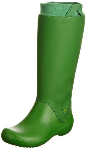 Crocs Rainfloe, Bottes de pluie - Femme Vert (Grün Kelly Green/Kelly Green 34A)