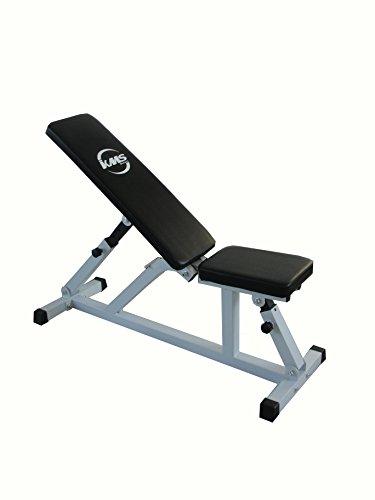 FoxHunter Positionen verstellbare, Flache Steigung Home Gym Utility Hantel Gewicht Fitness Workout Bench Max Kapazität 200kg Gestell aus pulverbeschichtetem Stahl