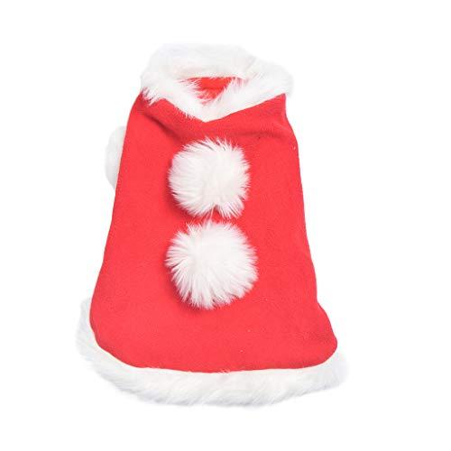 Katze Queen & Hunde Kostüm - SINGOing's Haustier Weihnachten Kleidung,Weihnachts-Kostüm für Hunde und Katzen, für Weihnachten, warme Party-Anzug für Teddy, Yorkshire Terrier, Chihuahua, Zwerggspitz, Festliche Geschenke