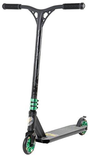Star-Scooter® Premium Freestyle Stuntscooter Monopattino Eccezionale Prezzo-Prestazioni ★ Edizione 110mm Semiprofessionale ★ Nero (Opaco) & Verde