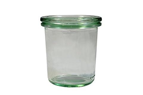 Pack 12 Vases W/Lid 140 Ml Glass
