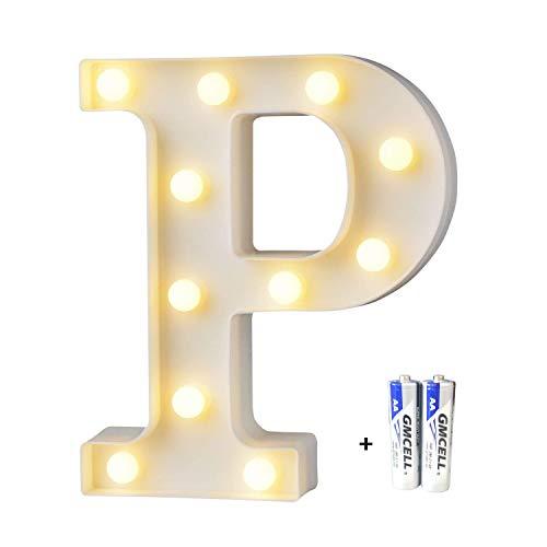 LED Buchstabe Lichter Alphabet, LED Brief Licht, Led dekoration für Geburtstag Party Hochzeit & Urlaub Haus Bar - Buchstabe ()
