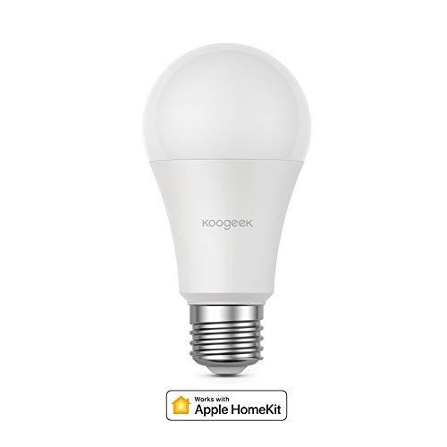 Koogeek Natale E27 7W Dimmerabile Wi-Fi LED inteligente Lampadina compatible con Alexa Apple HomeKit y lAssistant Google Nessun hub richiesto control remoto Controllo vocale