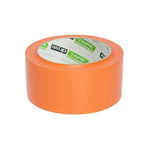 Gewebeklebeband - 48 mm x 50 m - orange | für Innen- und Außenanwendung | für glatte und raue Oberflächen |von Hand reißbar | feuchtigkeitsbeständig ()