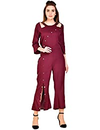 192d36109ea Amazon.in  Reds - Jumpsuits   Dresses   Jumpsuits  Clothing ...
