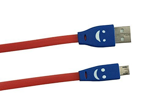 ANKGLEAS Best in Class Micro LED Lighting Smile Face Design USB Only CHARGING Cable (NO DATA SYNC) for Samsung Nokia LG Micromax Sony HTC - Red  available at amazon for Rs.109
