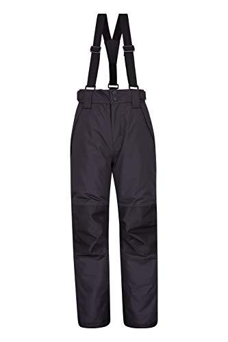 Mountain Warehouse Falcon Extreme Skihose für Kinder - Winterhose, Schneehose, wasserfeste Kinderhose, Schneegamaschen, Sicherheitstaschen- Für Skiurlaub Kohle 164 (13 Jahre)