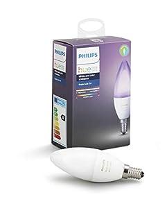 Philips Hue Ampoule connectée White and Color flamme E14 - Fonctionne avec Alexa (B06XK9QPSC) | Amazon Products