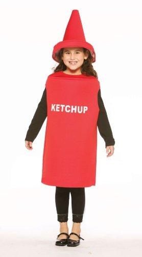 Ketchup-Kostüm für Kinder 122/134 (7-9 (Kostüme Kind Ketchup)