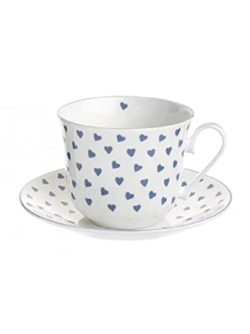Nina Campbell Blue Heart Breakfast Cup And Saucer